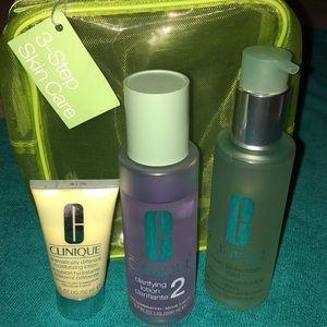 🆕 Clinique 3 step skin care set
